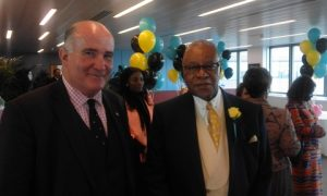 The Bahamas High Commissioner with Richard Moir CEO of The Wealth Forums