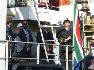 Hoisting of the South African flag