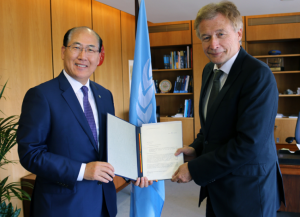 H.E. Dr. Peter Ammon, Germany's Ambassador to the UK and Permanent Representative of Germany to IMO, met IMO Secretary-General Lim today