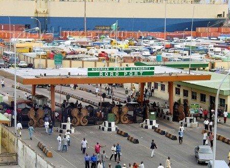 Nigerian Ports Authority ro-ro terminal.