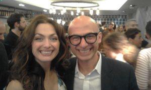 Smiling faces: Tonia Buxton with her bortehr Christos Michaels
