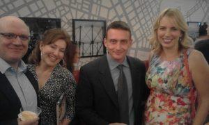 Kostas Amarantidis with his wife Tenia Koronaiou, Theofilos Mozas and Jasmine Harman