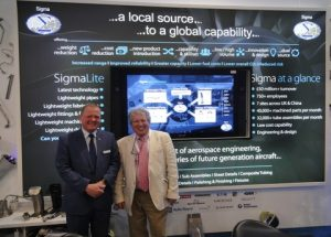 Lord Young with Mark Johnson, Chief Executive of Sigma Components