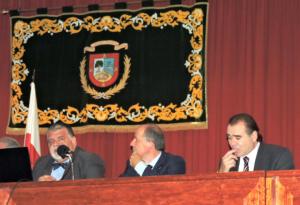 l to r: Capt. Antonio M. Padrón, Mr. José R. San Cristóbal and Mr. Rafael Rodríguez