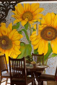 Sunflower mural by Camille.