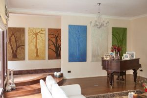 Tree panels mural by Camille