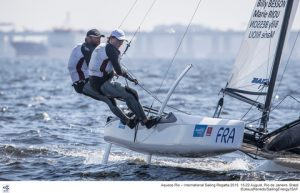 French sailors Besson and Riou