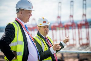 Transport Minister Chris Grayling with Peel Ports Chief Executive Mark Whitworth