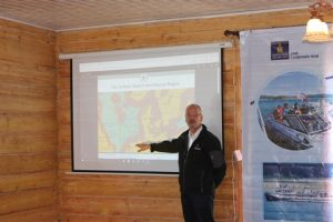 Captain Udo Fox, Chairman of the IMRF, presenting at the workshop