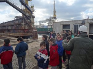 Visit to the Neorion Shipyards-4th Primary School of Ermoupolis, Syros island