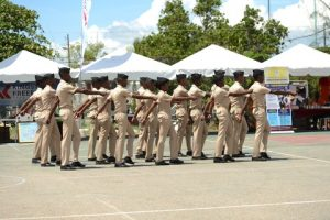 CMI cadets in Walk Pass at opening ceremony