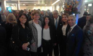 l to r: Dr. Ilona Denisenko, Carin Orsel, Dorothea Ioannou, H.e the Bahamian Ambassador , Boriana Farrar and Vincent J. Solarino