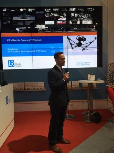 Ran Merkazy, LR's VP Product and Service Innovation, presenting at the launch