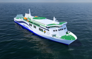 The new car and passenger ferry being built for Danish operator Mols-Linien, will be powered by two 8-cylinder Wärtsilä 31 main engines.