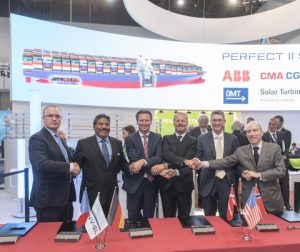 Project partners GTT, CMA CGM (and its subsidiary CMA Ships) and DNV GL signed a cooperation agreement with new project participants *