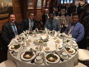 l to r: TC Thoresen, Mc Quiling; Evan Sproviero, GMS; Kamal Datta, GMS; Captain Yogesh Rehani, GMS