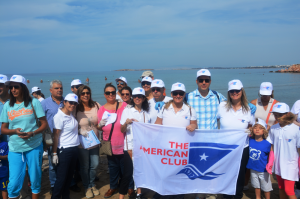 From the Clean-up: members of the American Club, HELMEPA and friends