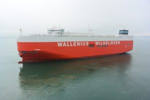 """The Ro-Ro vessel """"Theben"""" is equipped with an Exhaust Gas Cleaning (EGC) System from Wärtsilä. The system is the first EGC to be approved by an Asian flag authority."""