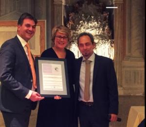 Jochen Kress, ESPO Secretary General, Isabelle Ryckbost and ECOPORTS Antonis Michail
