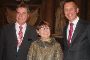Dieter Berg, Maria Bianca Farina and IUMI secretary general Lars Lange.