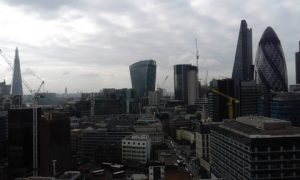 Stunning views of the Square Mile and beyond from the Ince & Co auditorium at Aldgate Tower