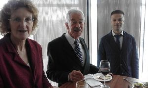 from the pre-talk buffet luncheon: Alison Lescure from Ince & Co, James Brewer and Capt Mustafa Kanafani