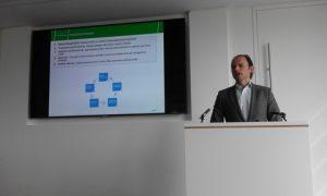 Christoph Toepfer delivering his slides speech