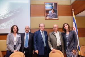 l to r: Irene K. Notias, Nikcy Pappadakis, George A. Tsavliris, captain Panagiotis N. Tsakos and Katia Galouka
