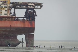 Another view of the beached Producer - photo credits: S. Rahman