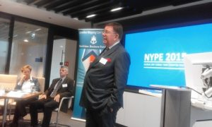 Clarksons Platou Struan Robertson introducing the event