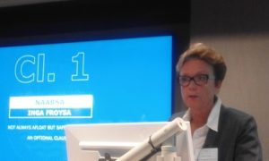 Inga Froysa from Torvald Klaveness in Olso delivering her speech