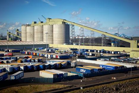 Immingham Renewable Fuels Terminal is just one of the innovative projects which helped ABP secure its place on the shortlist of the inaugural North of England Transport Awards (image courtesy of ABP)