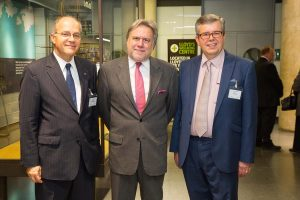 The Greek Ambassador, Minister George Katrougalos and Prof. Kevin Featherstone