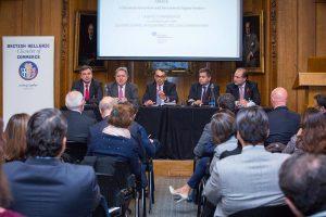 L to r: N. Vettas, G. Katrougalos, Paul Kazarian, Sotiris Leontaris, and Harris Ikonomopoulos