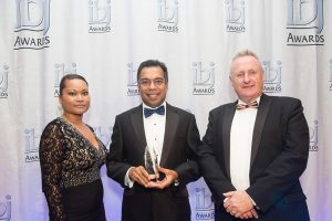 ClassNK's Regional Manager of Europe and Africa Dr. M. A. Rahim receiving the award