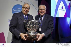 George Andreadis and World Sailing President Carlo Croce