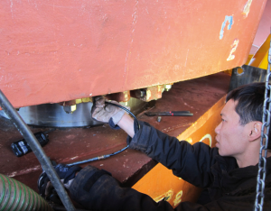 Hydrex's new Mobdock takes the drydock out of the rudder repair equation