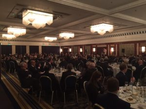 A view form the IMIF dinner with Katy Ware from the MCA delivering the keynote speech