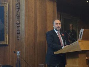 The BHCC greek president Harris Ikonomopoulos addressing his memorable speech