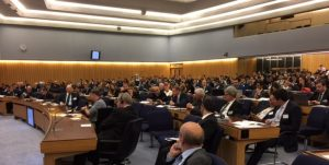 A view of the audience at the Eighth City of London Biennial Meeting