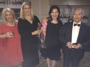 from the drinks reception; Anny Zade, Aggeliki Koutoulia, Eleni Papadakis and John Dimitrakopoulos