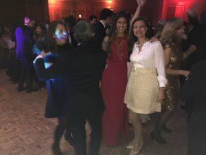 Dr. Dora Skoura, her sister Vanessa (extreme left) and friends dancing