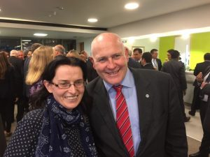 ITF's Deirde Fitzpatrick with ITF's General Secretary Stephen Cotton