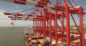 A view of the Liverpool Container Terminal
