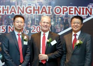 Yang Yuntao, Paul Jennings and Gary Chen at North P&I Club's reception in Shanghai on Friday 25 November 2016.