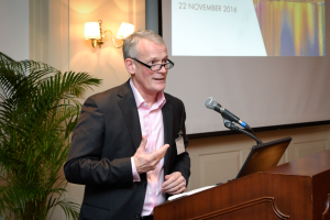 North P&I Club joint managing director Paul Jennings speaking at the Raffles Hotel in Singapore last night