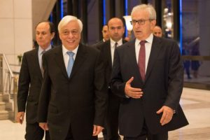 The arrival of H.E the President of Greece Prokopis Pavlopoulos
