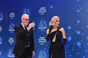 Co-hosts for the 2016 Greek Shipping Awards were Nigel Lowry and Andriana Paraskevopoulou.