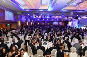 A record attendance of 1,200 guests at this year's event.
