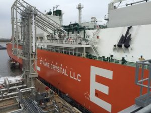 """The ABS-classed """"Ethane Crystal"""" the world's first VLEC has loaded its first shipment of ethane cargo at Enterprise Products Partner's  Morgan's Point Terminal"""